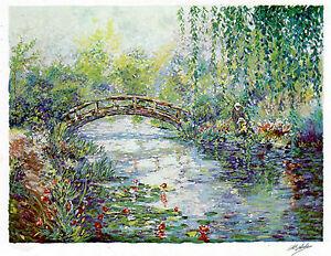 A.B.Makk Inspirations Flower River Hand Signed Art Serigraph on Paper MAKE OFFER