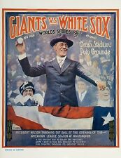1917 WORLD SERIES PROGRAM PHOTO  WHITE SOX VS GIANTS,SOX WIN 4 GAMES TO 2 8x10
