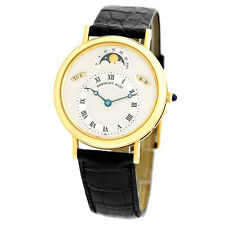 BREGUET 18K Yellow Gold Classique Moonphase Calendar 3330 BA Box Warranty
