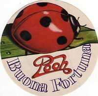 NO CD - ADESIVO  - POOH - BUONA FORTUNA - ORIGINALE D'EPOCA 20/6/1981 - NUOVO