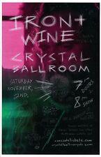 IRON AND WINE 2013 Gig POSTER Portland Oregon Concert