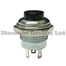 Quality Momentary SPDT Push Button Switch  Black