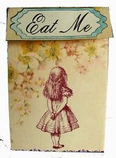 Vintage Alice in Wonderland EAT ME or TAKE ME party favor bags box set of 8