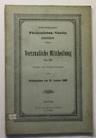 Internationaler Philatelisten-Verein Vertrauliche Mittheikung No.22 1900 sf