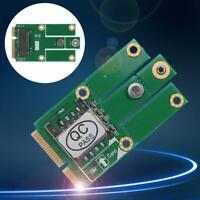 M.2 NGFF B Key to Mini PCI-E Converter Adapter Card with SIM Card Slot