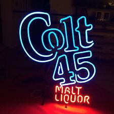 """New Colt 45 Beer Malt Liquor Vintage 1990s Beer Pub Bar Neon Sign 20""""x16"""" BE295M"""