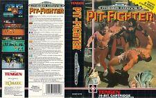 Pit Fighter Sega Mega Drive PAL Replacement Box Art Case Insert Cover