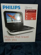 "New Philips PD700/37 White DVD Player (7"") Open Box"
