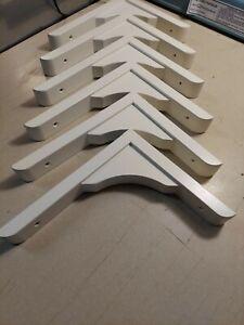 """LOT 6 Wood Corbel Shelf Brackets Supports  8.5""""H x 7""""L x 1 1/4"""" W IKEA Farmhouse"""