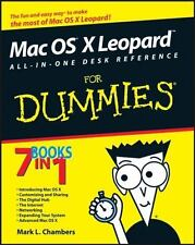 Mac OS X Leopard For Dummies Mark L. Chambers Paperback Book 0470054344