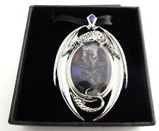 Anne Stokes Enchanted Cameos necklace Lunar Magic dragon pentagram art work