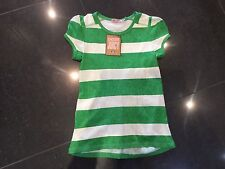 NWT Juicy Couture New Gen. Small Ladies Green & White Cotton T-Shirt UK 8-10