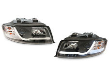 02-05 Audi A4 B6 8E Plasma LED Light Bar DRL Black Projector Headlight Quattro