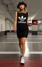 NEW! adidas Originals  Women's MESH TREFOIL TANK DRESS  UK14 - US MED  ONLY 1AVL