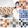 6 Stücke Mosaik Wandaufkleber Fliesen Bad Küche Dekor Wasserdicht Selbstklebend