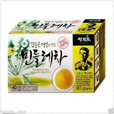 40Tea Bags Dandelion Tea to Detoxify and Cleanse Liver / Korean Taraxacum Herbs