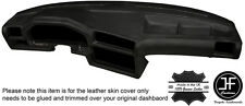 BLACK LEATHER DASHBOARD LEATHER COVER FITS BMW 3 SERIES E30 1981-1992 STYLE 2