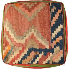 Orient Kilim Cuscino Pavimento Pouf Cuscino 100% LANA 60 x 60 x 35 cm incl. riempimento