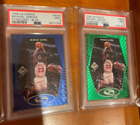 Lot 2 1998 UPPER DECK CC MICHAEL JORDAN Starquest Blue & Green #SQ30 PSA 9 RARE!