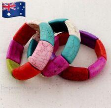 New Bohemian Multi - Coloured Thick Bangle / Bracelet - Charm - Vibrant
