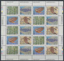 CANADA #1279-1282 39¢ Prehistoric Life in Canada-1 Full Pane MNH