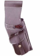 TRADITIONAL SYNTHETIC LEATHE  SIDE HIP QUIVER ARCHERY PRODUCTS SAQ119  R / H BRW
