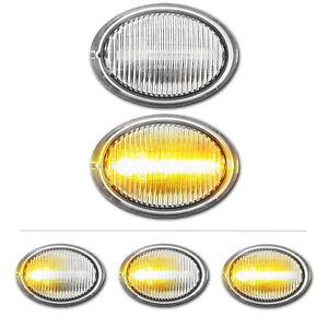 WEISSE dynamische LED Seitenblinker Fiat 500 Abarth Ford Ka (RU8) Lancia Ypsilon