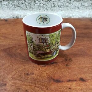 """1996 Collectors Edition Lang & Wise Coffee Mug """"Cabin in the Garden""""  Ned Young"""