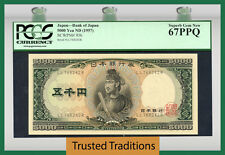 Tt Pk 93b Nd 1957 Japan 5000 Yen Pcgs 67 Ppq Superb Gem New Finest Graded!