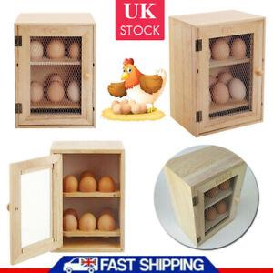 New Wooden Chicken EGG House Cupboard Cabinet 12 EGG Holder Storage EGG Rack UK