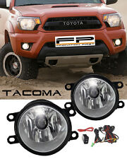 2012-2015 Toyota Tacoma Clear Lens Fog Light Driving Lamp Complete Kit OE Style