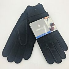Isotoner Black Knit and Suede 40 gram Thinsulate Mens Gloves NOS One Size AC