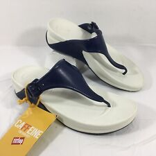 NEW Women's FitFlop Flip Flop Sandals SuperJelly Blue Rubber Sz 8