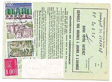 FRANCE  TIMBRE  ORDRE DE REEXPEDITION PARIS POUR AIX EN PROVENCE 1976