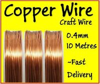 Copper Wire Craft Wire 0.4mm 10 Metres Great for Modelling and Hobbyist Bare