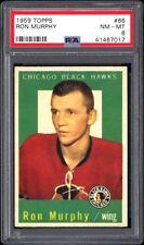 1959-60 Topps Hockey #66 Ron Murphy PSA 8 Centered -- Last Card In Set!