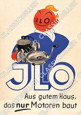 ILO Motor Poster Plakat Werbung Reklame Schild Zeichnung Bild Sign Motoren