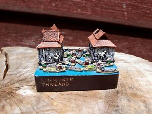 Floating market souvenir from Thailand boat river