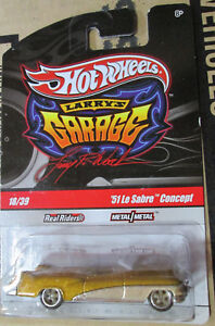 Hot Wheels Larry's Garage #18 Gold '51 Le Sabre Concept w/Real Riders
