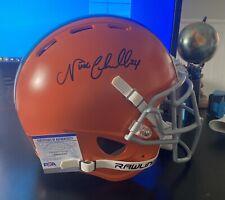 NICK CHUBB Signed Cleveland Browns Full Size F/S Custom Football Helmet PSA COA