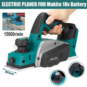 Akku Hobel 18V 82mm Hobelmaschine Holzhobel Einhandhobel für Makita Batteire