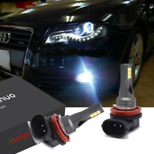 2PC H11 Bulbs Fog Light LED White 6000K Canbus FOR Audi A4 B8 2008-2015