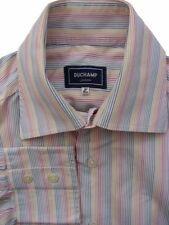 Duchamp Striped Single Cuff Formal Shirts for Men