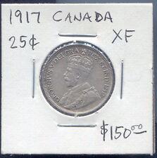 CANADA - FANTASTIC SILVER 25 CENTS, 1917