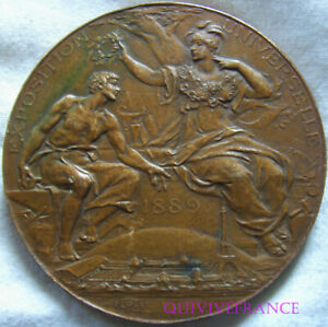 MED10370 - Medal Exhibition Universal 1889 By Louis Booted