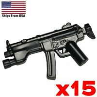 LEGO Guns MP5A5s SMG Lot of 15 Sub-machine Gun SWAT Soldier Military Weapon pack