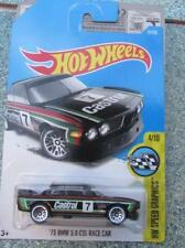 "HOT WHEELS 2017 057/250 1973 BMW 3.0 CSL Voiture De Course Noir "" No 17.8cm long"