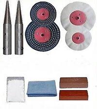 "Bench Grinder gioielli Conversione Kit lucidatura. 12.5mm/1/2"" SPINDLE Adattatori"