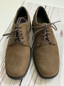Rockport Men's Lace Up Suede Brown Leather Oxford Shoes Size 8 M Comfortable