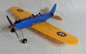 Vtg Cox .049 Gas Engine Powered PT19 Flight Trainer Control Line Airplane